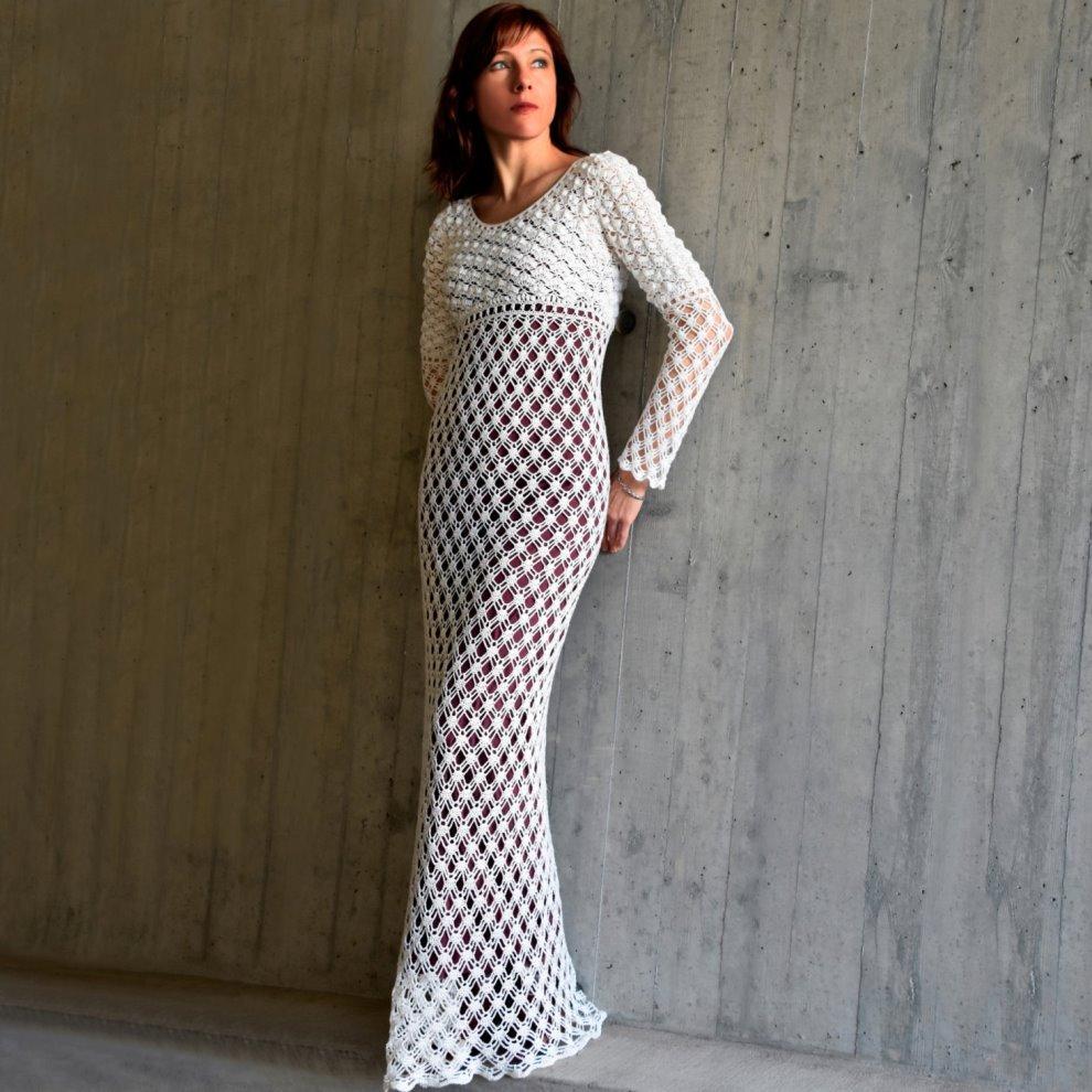 Crochet Wedding Dress Pattern.Eternity Dress Crochet Pattern Crochet Tutorial In English