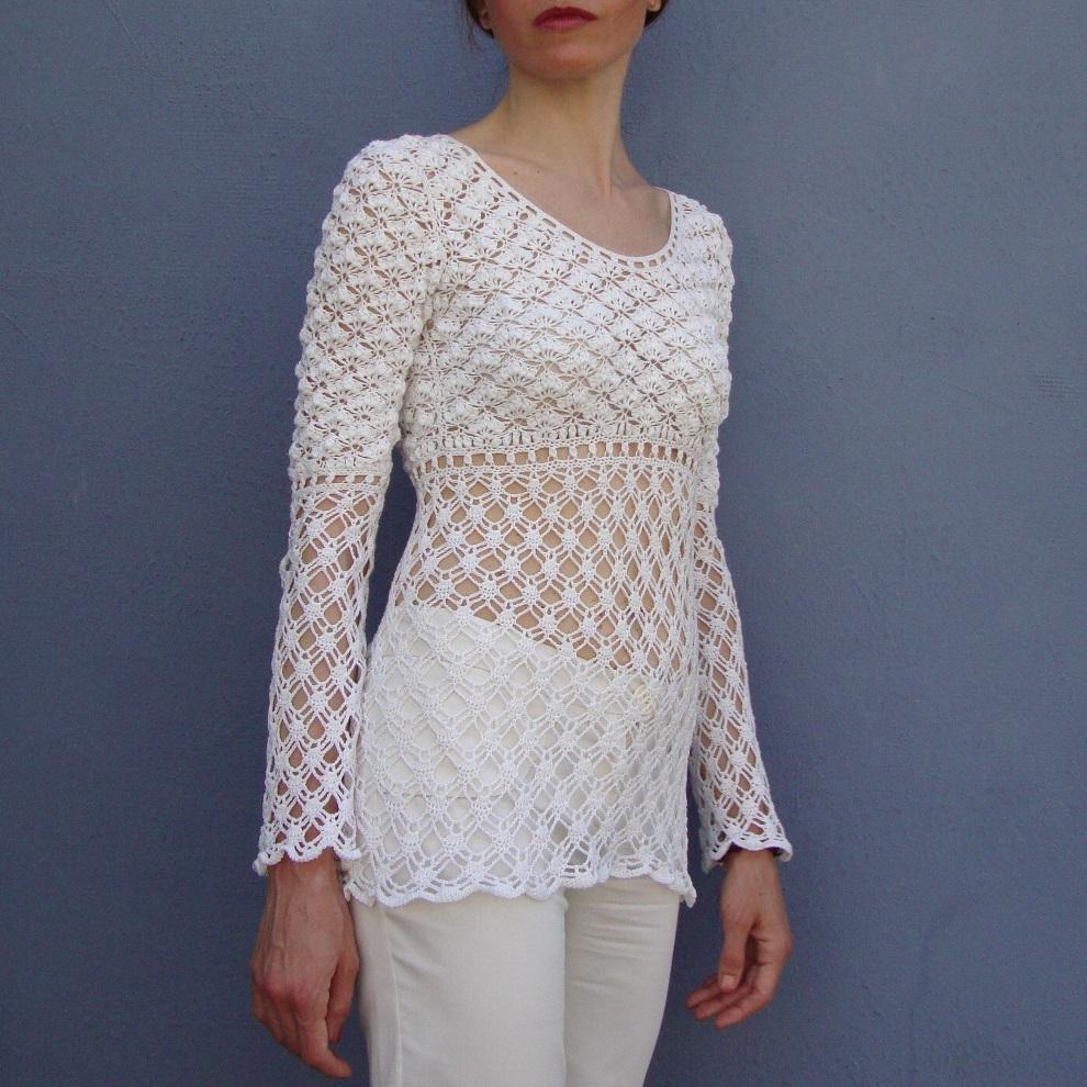 cca7a5caa1cd8 RHAPSODY  Crochet Tunic Pattern - Crochet Tutorial in English ...