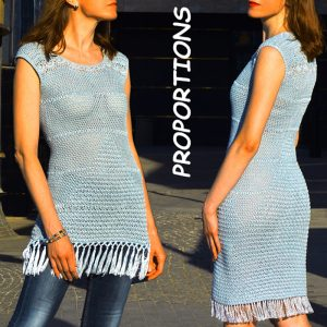 PROPORTIONS: Crochet Dress Pattern – Crochet Tutorial in English