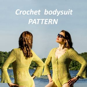 CALLUNA: Bodysuit Crochet Pattern – Crochet Tutorial in English