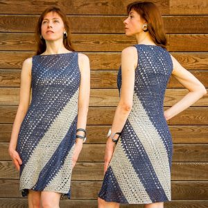 TRAPEZOID: Crochet Dress Corner to Corner Pattern in English