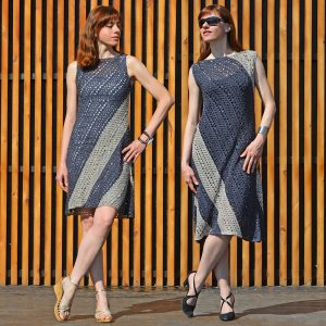 TRAPEZOID: Corner to Corner Crochet Dress Pattern in English