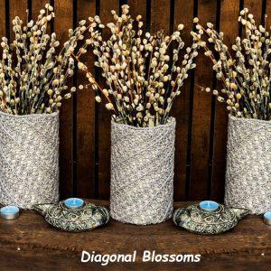 DIAGONAL BLOSSOMS: Crochet Cover Pattern