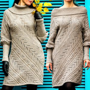 SINEQUANON: Knit Sweater Dress Pattern – Knit Tutorial in English