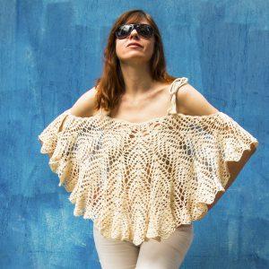SUMMER HAPPINESS: Poncho Crochet Pattern – Crochet Tutorial in English