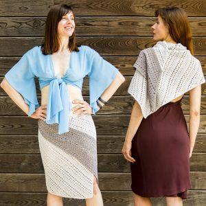 SERPENTINE: Crochet Wrap Pattern – Crochet Skirt Pattern in English