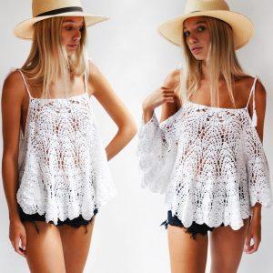 SUMMER HAPPINESS: Top Crochet Pattern – Crochet Tutorial in English